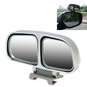 Rechterkant Rear View Dodehoek spiegel universele verstelbare brede hoek Auxiliary Mirror(Silver)