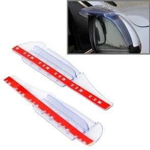 2 PC's flexibele Shelding regen Board regen wenkbrauw met Wind gids toestellen voor auto Rearview Mirrors(Transparent)