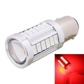 2st 1157/BAY15D 16.5W 1155LM 630-660nm 33 LED SMD 5630 Roodlicht auto remlicht gloeilamp voor voertuigen  DC12V(Red Light)