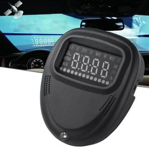 A1 2.0 inch Car GPS HUD Head Up Display Vehicle-mounted Security System  Support Speed & Real Time & Altitude & Over Speed Alarm & Compass & MPH & Auto Sleeping & KM & Satellite Signal