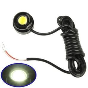 3W waterdichte Eagle Eye magnetische witte LED licht voor voertuigen (zwart)