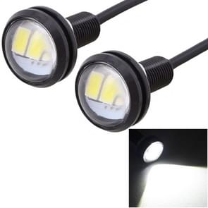 2 PCS MZ 22.5mm 1.5W 150LM White Light 3 LED SMD 5630 Spotlight Eagle Eye Light Daytime Running Light for Vehicles