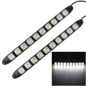 2 PC's 5W 10 LED SMD 5050 flexibele slang leidde auto Daytime Running Lights  DC 12V