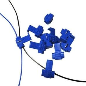 100 PCS Cable Clip, Adapt to Line Diameter: 0.8-2.0mm(Blue)