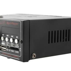 HiFi Stereo Audio MP3 Power Amplifier with Remote Control, Support FM USB SD MMC Card, Digital Player 180W + 180W (AK-699D)(Black)
