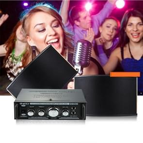 AK698C HiFi Stereo Audio 180W + 180W Power Amplifier, Support 2CH MIC Input, AC 220V / DC 12V(Black)