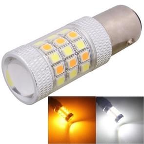 1157/BAY15D 8W 420LM wit + geel licht 42 LED SMD 2835 auto rem licht besturing gloeilamp  DC 12V
