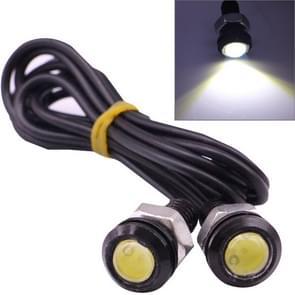2 stuks 2x 2W waterdicht Eagle Eye licht wit LED licht voor voertuigen  kabel lengte: 60cm (zwart)