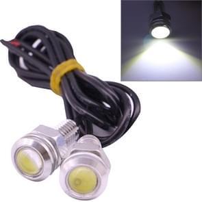 2 stuks 2x 2W waterdicht Eagle Eye licht wit LED licht voor voertuigen  kabel lengte: 60cm (zilver)