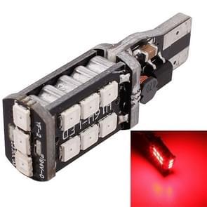 2 stk T15 3W rode LED 300LM SMD 2835 auto mistlicht achter / Backup licht voor voertuigen  DC 12V