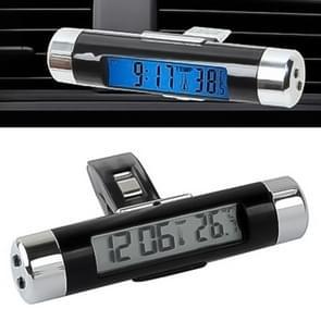 Auto decoratie bureau LCD-scherm klok & thermometer met blauwe achtergrondverlichting