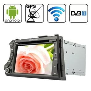 Rungrace 7.0 Android 4.2 Multi-Touch Capacitieve Screen In-Dash Car DVD Player voor Ssangyong Acyton Kyron met WiFi / GPS / RDS / IPOD / Bluetooth / DVB-T