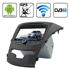 Rungrace 7.0 Android 4.2 Multi-Touch Capacitieve Scherm In-Dash Car DVD-speler voor Ssangyong Korando met WiFi / GPS / RDS / IPOD / Bluetooth / DVB-T