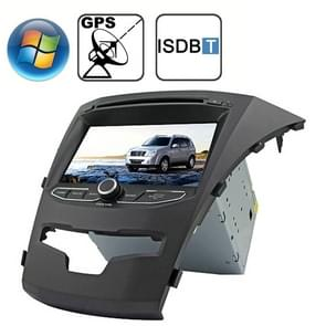 Rungrace 7.0 inch Windows CE 6.0 TFT Screen In-Dash Car DVD Player voor Ssangyong Korando met Bluetooth / GPS / RDS / ISDB-T