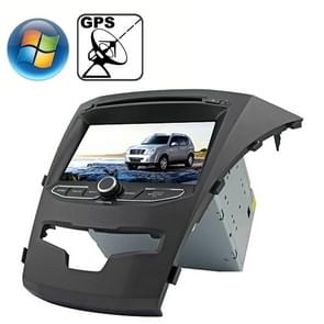 Rungrace 7.0 inch Windows CE 6.0 TFT Screen In-Dash Car DVD Player voor Ssangyong Korando met Bluetooth / GPS / RDS