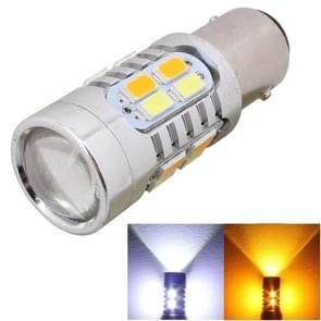 2st 1157/Ba15d 10W 700LM geel + wit gloeilamp 20-LED SMD 5630 auto Brake Light Lamp  constante stroom  DC 12-24V