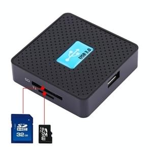 USB 3.0 All-in-1 Card Reader, Super Speed 5Gbps, Support CF / SD / TF / M2 / XD Card(Black)