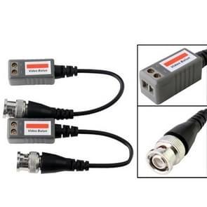 2-delige 1-kanaals passieve video-transceiver (grijs)