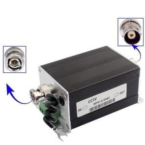 24V 3 in 1 CCTV video monitor Surge lightning arrester (MPD-3/24AC) (zwart)