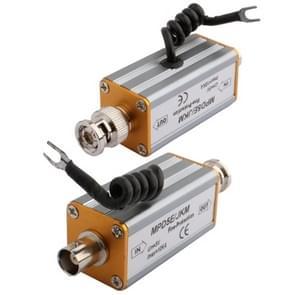 BNC F input connector coaxiale video signaal lightning arrester overspanningsbeveiliging (zilver)