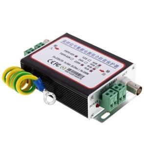 12V 3-in-1 CCTV video monitor overspannings vanger blikseminslag (zwart)