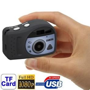 T7000 1080P Mini Digital Camera / Mini DV , 3.0 Mega Pixels Support TF Card(Black)