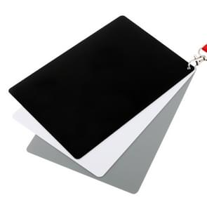 3 in 1 Zwart Wit Grijs Balans / Digitale Grijs Kaart Set met handriem  werkt met iedere Digitale Camera  Bestandsformaat: RAW en JPEG