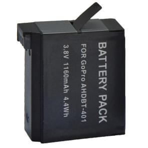 AHDBT-401 3.8V 1160mAh Replacement Battery for GoPro Hero 4 Digital Camera(Black)