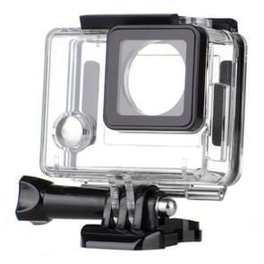Zijkant open skelet behuizing beschermhoes + duimknop + statief steun voor Dazzne P2 sport camera (S-SV-0020B)