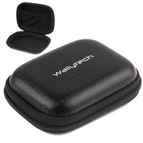 Carbon Fiber Waterproof Portable Case for GoPro  NEW HERO /HERO6  / 5 /5 Session /4 /3+ /3 /2 /1, Size: 9cm x 7cm(Black)