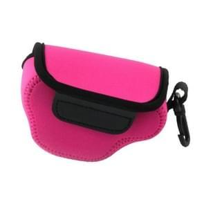 NEOpine Neopreen schokbestendige Camera Tas Hoes met Haak voor Nikon J4 Camera (hard roze)