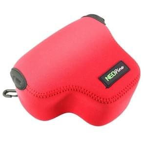 NEOpine Neopreen schokbestendige Camera Tas Hoes met Haak voor Canon PowerShot G3X Camera (rood)