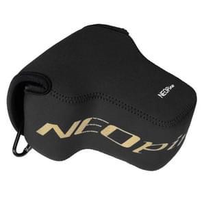 NEOpine Neopreen schokbestendige Camera Tas Hoes met Haak voor Nikon P900s Camera (zwart)