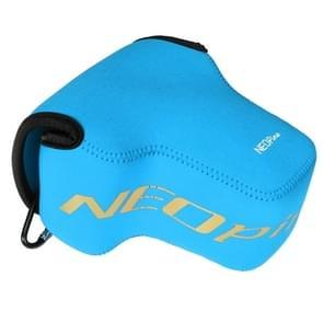 NEOpine Neopreen schokbestendige Camera Tas Hoes met Haak voor Nikon P900s Camera (blauw)