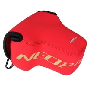 NEOpine Neopreen schokbestendige Camera Tas Hoes met Haak voor Nikon P900s Camera (rood)
