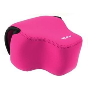 NEOpine Neopreen schokbestendige Camera Tas Hoes met Haak voor Panasonic FZ1000 Camera (hard roze)