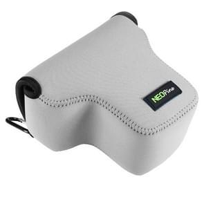 NEOpine Neopreen schokbestendige Camera Tas Hoes met Haak voor Panasonic GX8 Camera (licht grijs)
