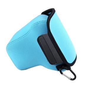 NEOpine Neopreen schokbestendige Camera Tas Hoes met Haak voor Panasonic GX8 Camera (blauw)