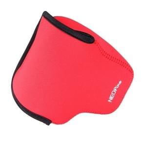 NEOpine Neopreen schokbestendige Camera Tas Hoes met Haak voor Canon EOS M3 Camera (rood)