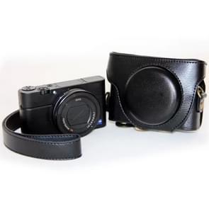 Retro Stijl PU leren Camera Tas met Draagriem voor Sony RX100 M3 (zwart)