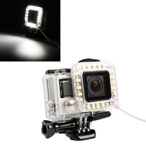 USB-Lens Ring LED Flash licht schieten nacht voor GoPro HERO4 / 3 +