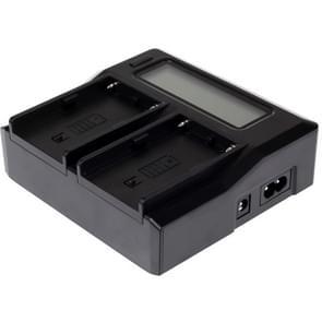 Dubbele Digitale Batterij Oplader met LCD scherm voor Sony BP-U30 / U60 / U90 Batterij  Compatibel met Sony EX260 / EX280 / FS7