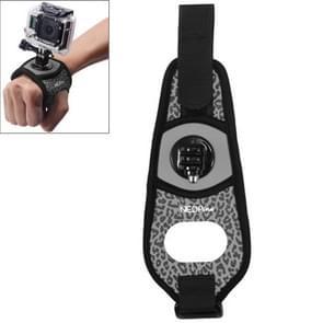 Sexy luipaard 360 graden draaiend Arm riem / polsband + Connecter Mount voor GoPro HERO4 /3+ /3 /2 /1 & Xiaomi Yi Sport Camera(grijs)