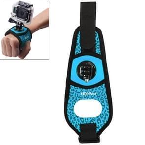 Sexy luipaard 360 graden draaiend Arm riem / polsband + Connecter Mount voor GoPro HERO4 /3+ /3 /2 /1 & Xiaomi Yi Sport Camera(blauw)