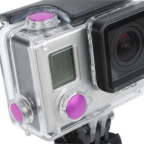 3 PC's TMC aluminium geanodiseerd Kleur knop ingesteld voor GoPro Hero 3 + (hard roze)