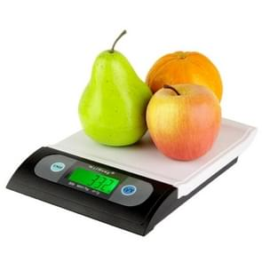 7kg x 1g Wave Shape Digital LCD Electronic Weighing Scale Multipurpose Kitchen / Laboratory Scale (B08L)(White)