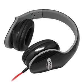 Ditmo DM-2610 opvouwbare stereo muziek koptelefoon (koptelefoon kabellengte 1 2 meter) (zwart)