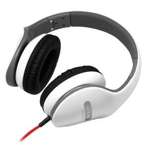 Ditmo DM-2610 opvouwbare stereo muziek koptelefoon (hoofdtelefoonkabel lengte 1 2 meter) (wit)