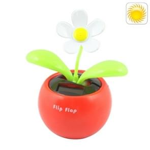 Solar Flip Flap Flower, Random Flower Color Delivery(Red)