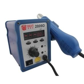 BEST BST-2009D AC 220V 50Hz 700W LED Displayer Adjustable Temperature Unleaded Hot Air Gun with Helical Wind, EU Plug(Blue)